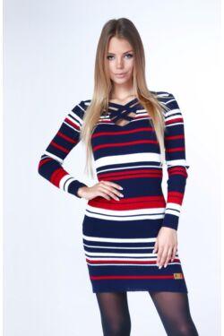 Mini ruha - Dark Blue - Red - Cream