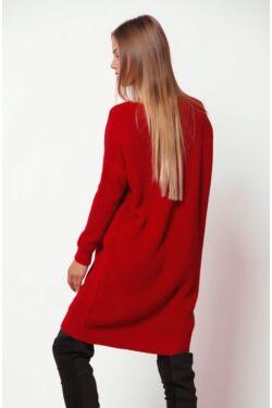 Csónak nyakú hosszított pulóver