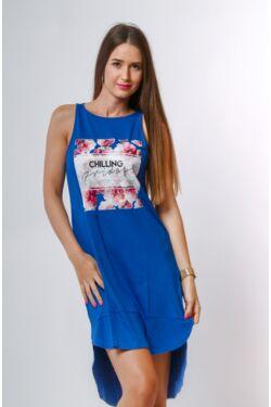 Nyomott mintás mini ruha - Classic Blue