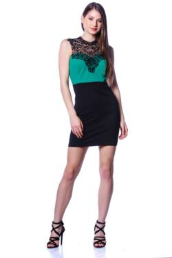 Mini ruha - Black - Green
