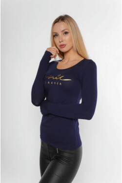 Nyomott mintás póló - Dark Blue
