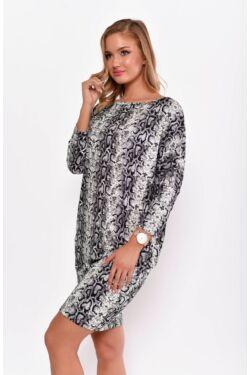 Kigyómintás lezser viselet miniruha - Grey Snake Print
