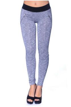 Magas derekú leggings - Marled Medium Grey