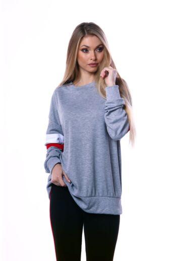 Lezser viselet szabadidő felső - Melange Grey