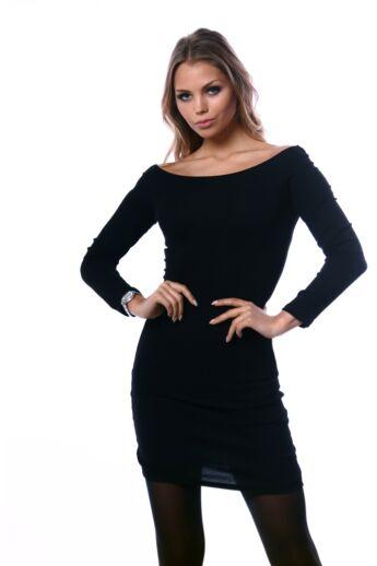 Váll nélküli mini ruha - Black