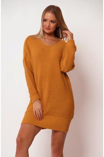 V nyakú pulóver - Mustard