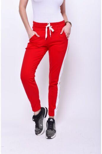 Passzés aljú szabadidő nadrág - Red