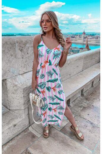 Maxi ruha - Quartz Rose Floral Print