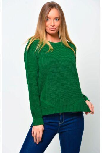 Bő szabású pulóver - Green