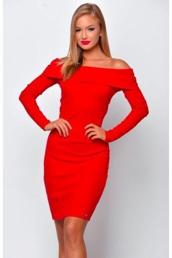 Váll nélküli mini ruha - Red