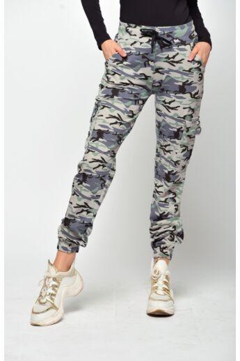 Terepmintás szabadidő nadrág - Camouflage Beige