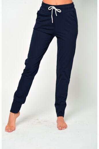 Passzés aljú szabadidő nadrág - Dark Blue