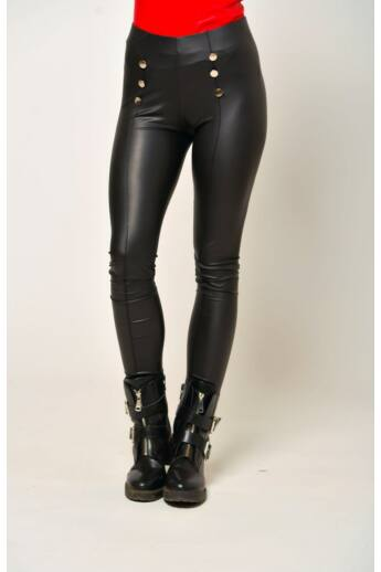 Bőr hatású legging - Black