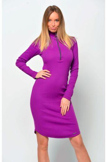 Bordás anyagú ruha - Purple