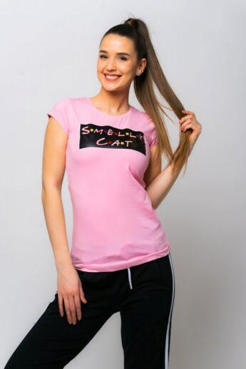 Nyomott mintás póló - Rose
