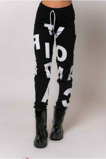 Nyomott mintás szabadidő nadrág