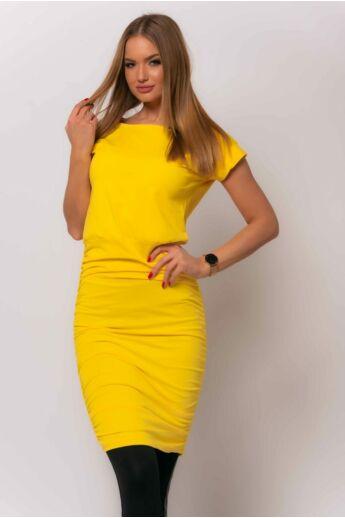 Oldalán húzott mini ruha - Yellow