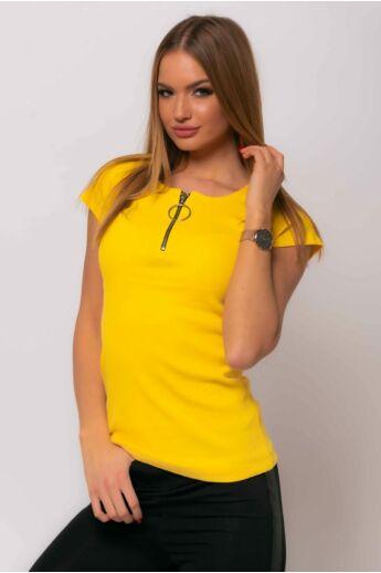 Elől zipzáras Felső - Yellow