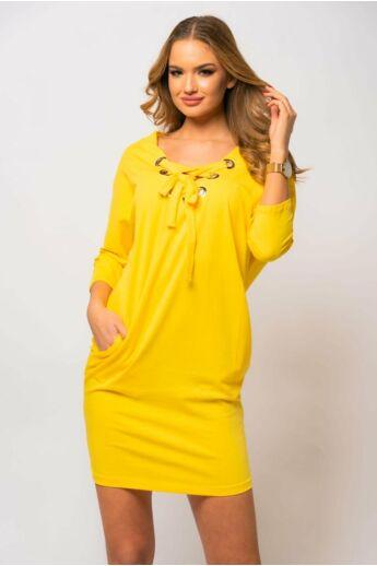 Fűzős ruha - Yellow