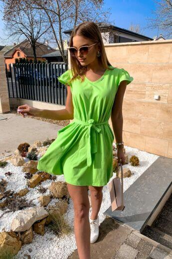 A-vonalú ruha - Neon Green