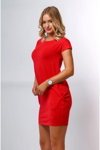 Oldalzsebes mini ruha - Red