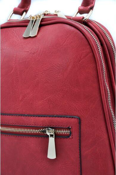 Bőrhatású hátizsák