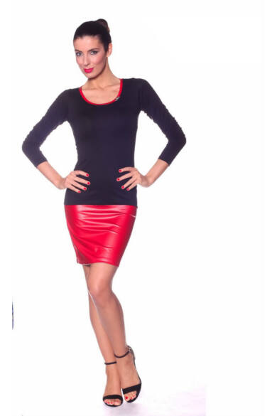 Bőr szoknyás tunika - Red Black