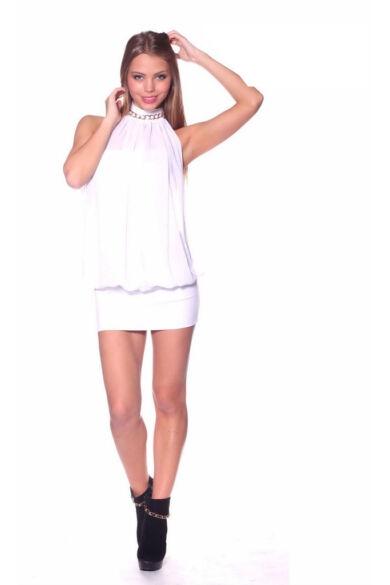 Tüllös, láncos ruha - White