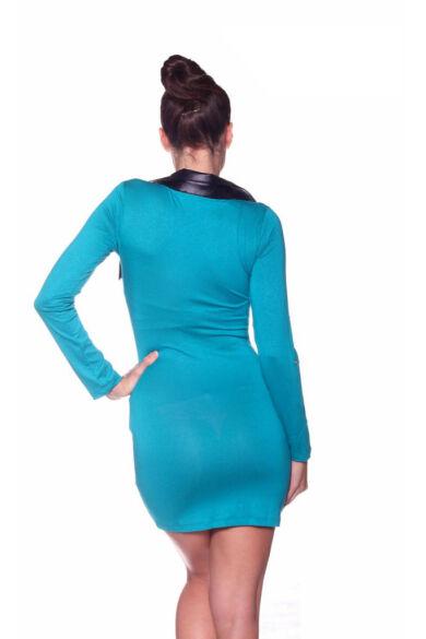 Bőrgalléros ruha