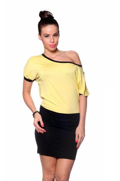 Maxi ruha - Yellow Black