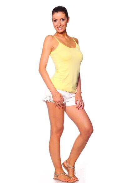 Spagetti pántos Felső - Yellow