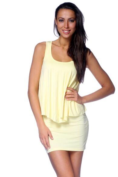 Fodros mini ruha - Yellow