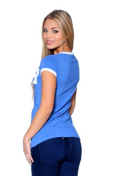 Graphic T-shirt Denim Blue