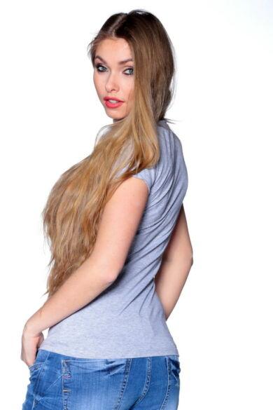 Graphic T-shirt Melange Grey