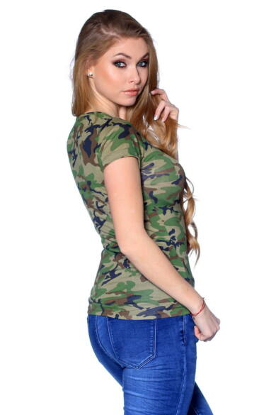 Camo Printed T-shirt Yellow