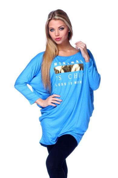Oversized felső - Turquoise