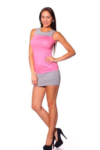 Mini ruha - Melange Grey - Rose Quartz