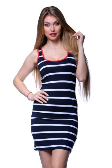 Ujjatlan felső - Stripe - White - Navy Blue - Red