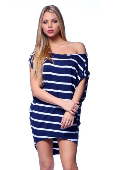 Rövid ujjú felső - Stripe - White - Navy Blue - Dark Blue