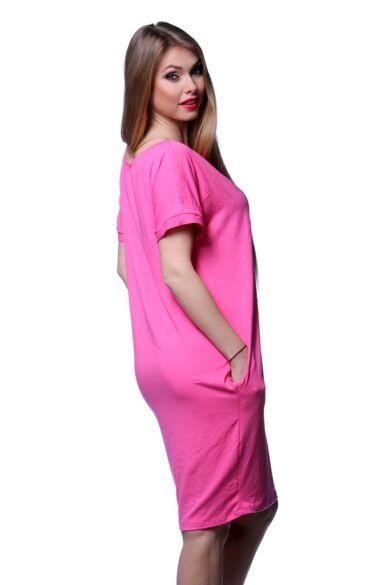 laza felső nyomott mintával - Hot Pink