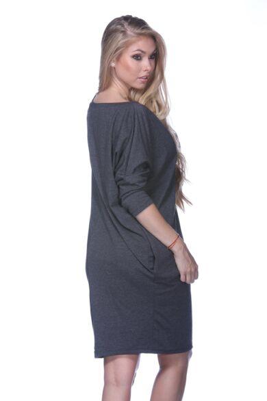 oversize felső - Melange Dark Grey
