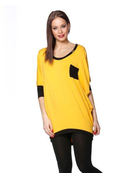 Mini ruha - Yellow - Black