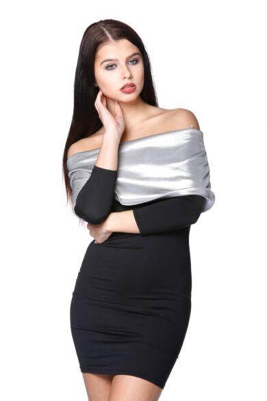 Mini ruha - Black - Silver