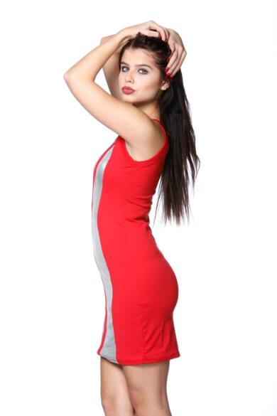 Mini ruha - Red - Silver
