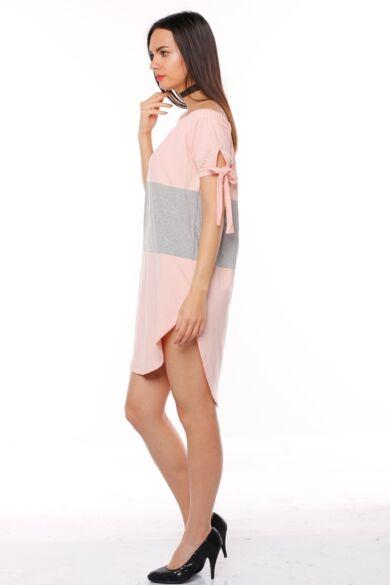 Mini ruha - Peach - Melange Grey