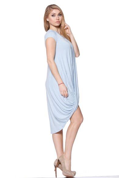 Csavart aljú mini ruha - Serenity Blue