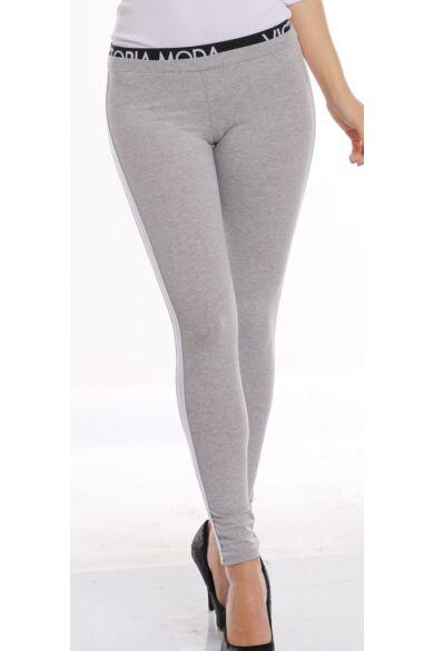 Legging - Melange Grey - White