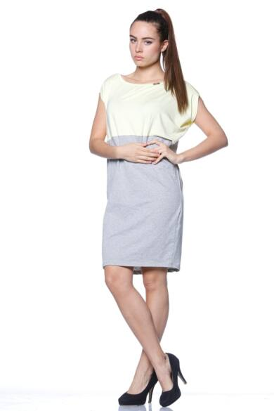 Mini ruha - Melange Grey - Yellow
