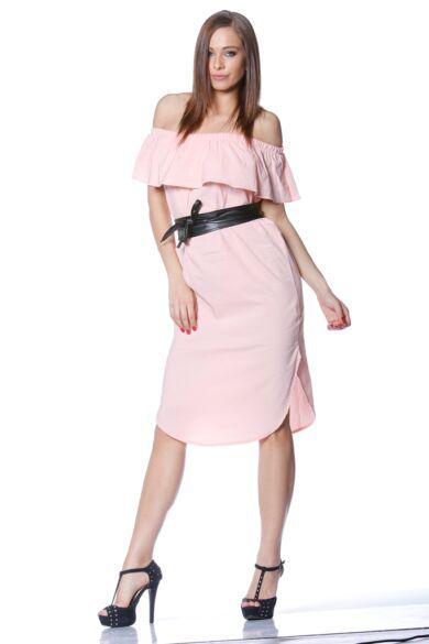 Nyitott vállú ruha- Quartz Rose