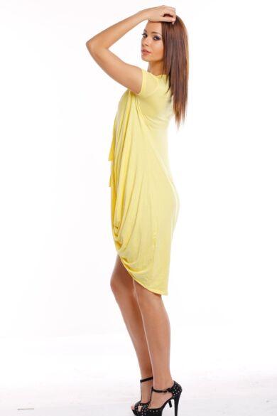Csavart aljú mini ruha - Yellow